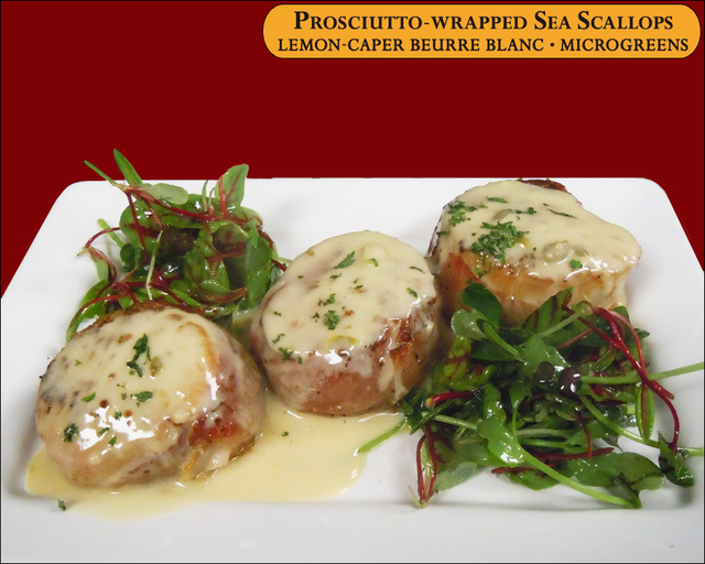Prosciutto-wrapped Sea Scallops