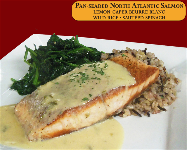 Pan-seared North Atlantic Salmon