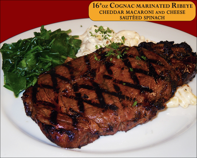 16+oz Cognac-marinated Ribeye