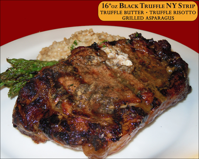 16+oz Black Truffle NY Strip